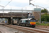 DRS 66413 passes Tamworth with 4M44, 0716 Grangemouth to Daventry on 3rd August 2009.