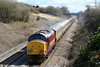 37401 descends Stormy Bank with Pathfinder's 1Z37, 0532 Nottingham to Machen via Tondu on 28th March 2009.