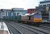60045 'The Permanent Way Institution' at Cardiff Central with 6B06, 0755 Newport ADJ to Barry Docks on 22nd October 2009.