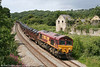 66146 passes Llangewydd with steel coils from Margam on 28th July 2009.