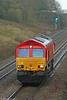 66152 runs light down Stormy Bank as 0B04, 1416 Llanwern to Margam on 7th November 2009.