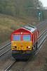 66152 runs light down Stormy Bank as 0B04, 1416 Llanwern to Margam on 7th November 2009.