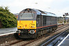 67005 'Queen's Messenger' runs into Swansea's Platform 1 to couple to 67006 on 25th October 2009.