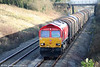 DB red 66152 descends Stormy Bank with 6V78, 0459 Wembley to Margam on 28th November 2009.
