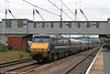 91109 at Peterborough with 1D37, 1435 London King's Cross to Leeds on 4th August 2009.