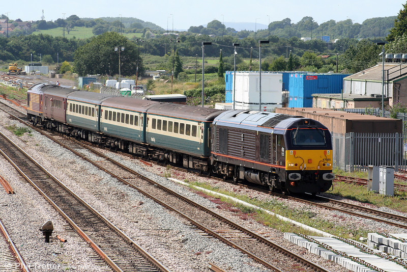67005 'Queen's Messenger' passes Severn Tunnel Junction with 2C79, 1400 Cardiff Central to Taunton on 27th July 2009.