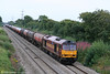 60019 'Pathfinder Tours' descends Stormy Bank with 6B47, 1742 Westerleigh to Robeston on 14th August 2009.