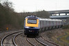 43091 heads the 0527 London Paddington to Swansea through Briton Ferry on 6th March 2009.