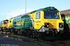 The first pair of Freightliner's 30 class 70s arrived in the UK from the USA on November 8. 70002 catches the morning sunlight at Stoke Gifford on 15th November 2009.