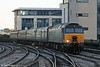 57314 approaches Cardiff Central with 1V31, 0532 from Holyhead on a frosty 28th December 2009.