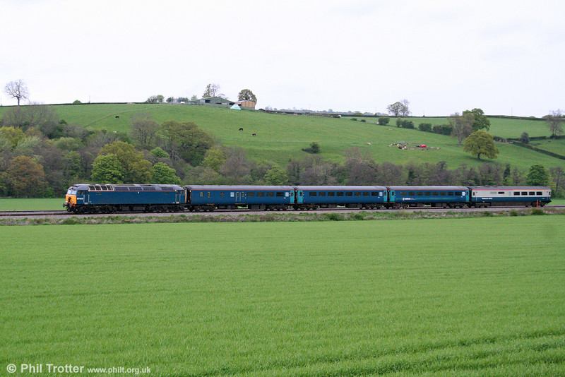 A closer look at 57313 near Pandy with ATW's 1V31, 0532 Holyhead to Cardiff Central on 4th May 2009.