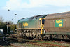 FHH 66524 awaits its next Portbury to Rugeley working at Stoke Gifford on 15th November 2009.