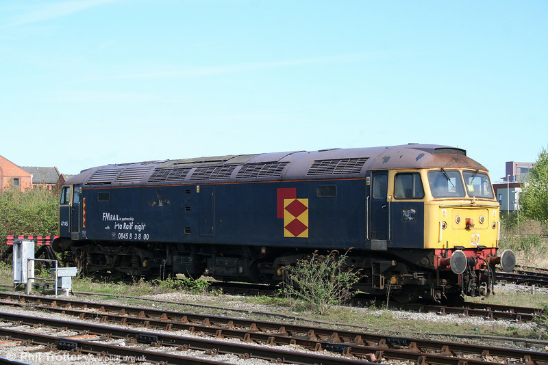 47145 (until recently named 'Myrrdin Emrys') awaits a decision on its future at Gloucester on 11th April 2009.