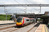 A VWC 'Pendolino' heads for the north through Tamworth on 3rd August 2009.