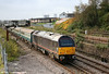 67006 'Royal Sovereign' brings up the rear of 5Z63, 0849 Canton TMD to Swansea on 25th October 2009.