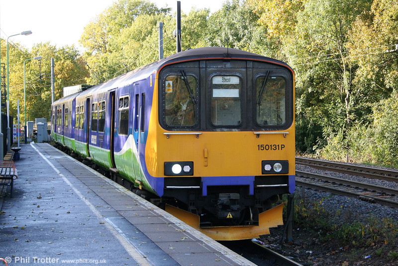 For now, LOROL class 150s continue to work the non-electrified Gospel Oak to Barking line. 150131 waits to leave Gospel Oak forming the 1555 service to South Tottenham on 24th October 2009; services between that point at Barking were suspended for engineering work.
