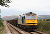 60054 'Charles Babbage' approaches Llangennech with 6B12, 1414 Margam to Trostre on 27th September 2009.