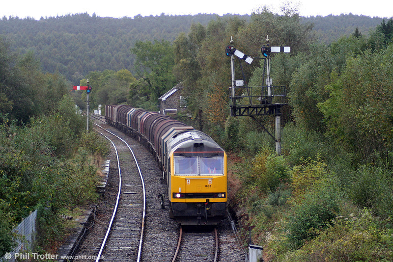 60063 'James Murray' at Tondu with the diverted 6H25, 1045 Margam to Llanwern on 3rd October 2009.