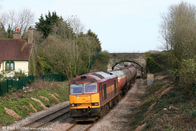 Network Rail's management of lineside tree growth continues to open up new vantage points; 60024 is seen at Pyle with 6B33, 1212 Theale to Margam on 4th April 2009.