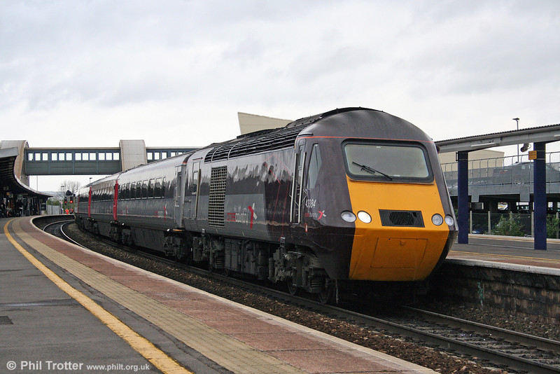 XC 43384 calls at Bristol Parkway with 1S55, the 1321 Plymouth to Edinburgh on 9th April 2009.