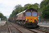 66114 pulls away from Llandeilo with 6Z32, 0552 Margam to Llanwern on 20th September 2009.