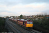 60021 'Star of the East' passes Pyle with 6B13, 0510 Robeston to Westerleigh loaded Murco tanks on 16th January 2009.