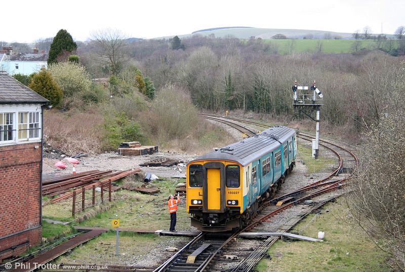 ATW 150227 at Tondu forming the 1217 Maesteg to Cheltenham Spa on 28th March 2009.