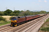 WCRC 47760 passes a sunny Coedkernew at the head of Railtourer's 1Z57, 0625 Skegness to Cardiff Central on 30th May 2009.