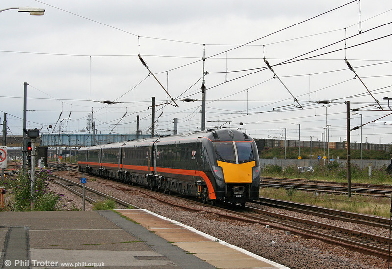 A second look at Grand Central's 180112 'James Herriot' as it passes Peterborough on 4th August 2009.