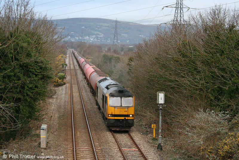 60054 'Charles Babbage' passes Felin Fran with 6B13, 0510 Robeston to Westerleigh on 6th March 2009.