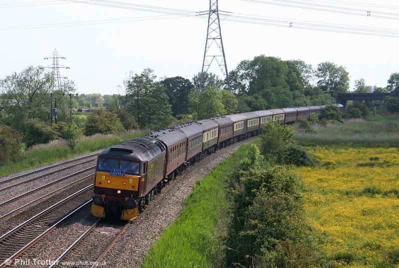 47760 passes Duffryn with Railtourer's 1Z58, 1540 Cardiff Central to Skegness on 30th May 2009.
