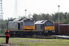60054 'Charles Babbage' and 67006 at Margam Knuckle Yard on 25th October 2009.