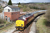 Having reversed at Margam, 37401 brings up the rear of Pathfinder's 1Z37, 0532 Nottingham to Machen at Tondu on 28th March 2009.