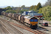 The following day, the same working; 66001 on 6M41, 1155 Margam to Round Oak at Magor on 8th April 2009.