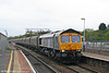 Fastline's 66303 passes Bristol Parkway with 4V09, 1046 Chaddesden to Portbury empties on 9th April 2009.