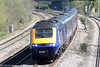 For those who like their HSTs up close and personal, this is the 1215 London Paddington to Cardiff Central passing Magor on 8th April 2009.