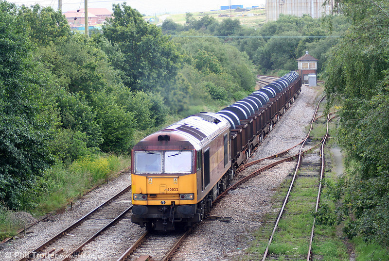 Making its second run of the day over the Swansea District Line, 60022 (originally named 'Ingleborough') passes Llandarcy with 6B12, 1414 Margam to Trostre on 12th July 2009.