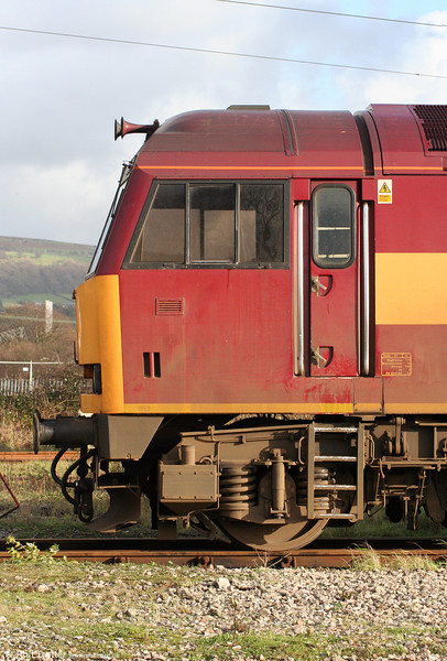 Cab of 60085 'Mini - Pride of Oxford' at Margam Knuckle Yard on 6th December 2009.