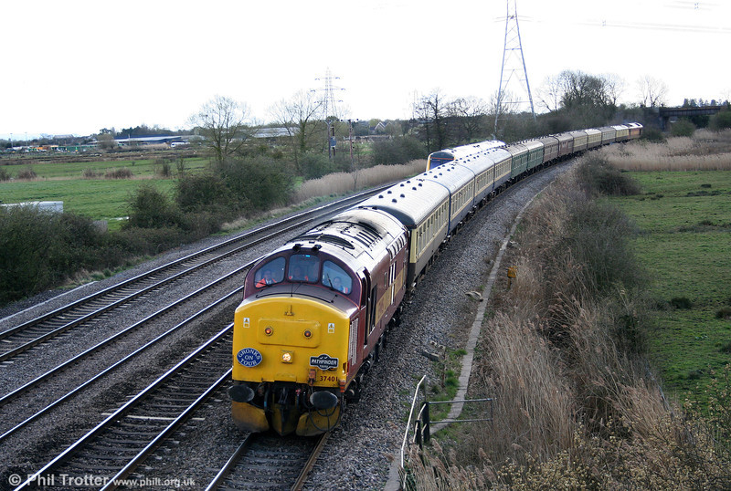 37401 passes Duffryn with the 1302 Tondu to Machen section of Pathfinder's 'Cwm and Go' railtour on 28th March 2009.