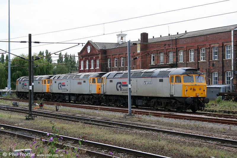 Cotswold 47813, 47828 and 47810, now sold to Harry Needle, in store at Doncaster West Yard on 6th August 2009.