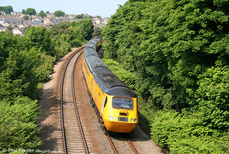 Making another of its frequent visits to South Wales, NR 43062 'John Armitt' leads the NMT down Skewen Bank, running as 1Z20, 1009 Swansea to Derby RTC on 4th June 2010.