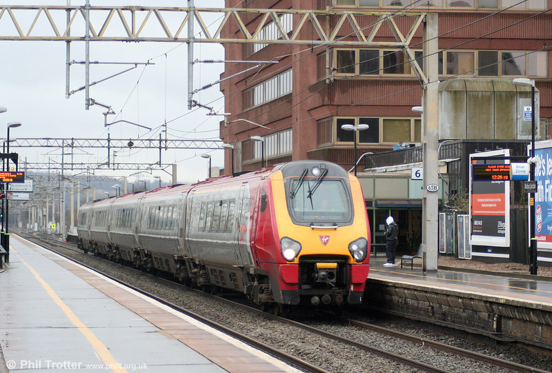 A VWC Voyager forming the 1210 London Euston to Chester passes Watford Junction on 20th March 2010.