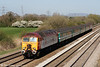 57312 'The Hood' heads through Coedkernew with 5U89, 1402 Taunton to Cardiff Canton ECS on 17th April 2010.