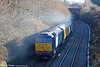 47832 'Solway Princess' brings up the rear of 2Q88, 0918 Robeston to Derby test train at Cockett on 15th December 2010.