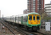 319216 runs light through East Croydon on 7th April 2010. These units are due to undergo a refresh/relivery by FCC.