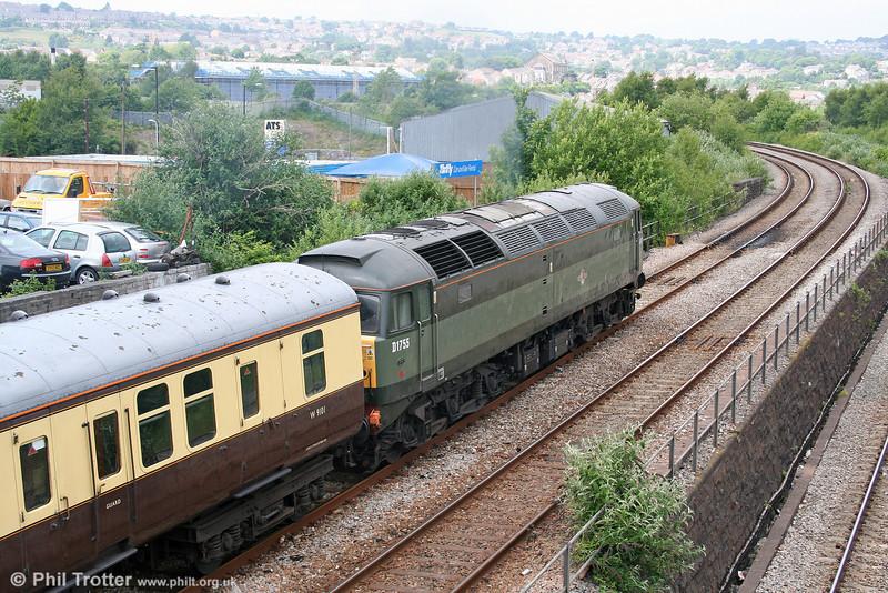 47773/D1755 heads 5Z54, 1405 Swansea to Landore TMD ECS on 19th June 2010.