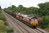 66185 descends Stormy Bank with 60049 DIT; this is 6V19, 1722 Immingham Sorting Sidings to Margam on 14th August 2010.