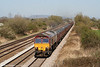 66187 returns through Coedkernew with 6B04, 1450 Llanwern to Margam on 17th April 2010.