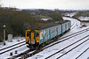 150253 passes Llandeilo Junction with a late running 0519 Shrewsbury to Cardiff Central on 6th January 2010.