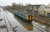After the snow...the floods. 150280 slowly passes Trostre with the 1205 Swansea to Pembroke Dock on 16th January 2010.